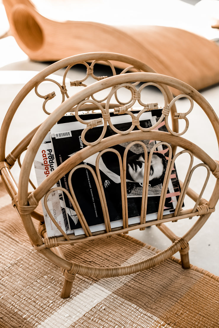 RATTAN MARCO NEWSPAPER HOLDER - Monnarita - Handmade products