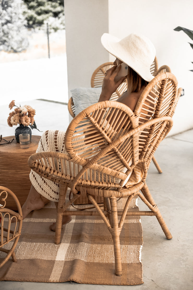 MONNA FLOWER RATTAN CHAIR - Monnarita - Handmade products