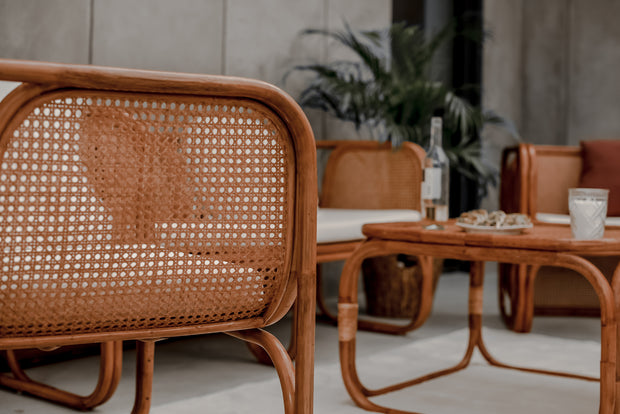 RATTAN TABLE ZORBA - Monnarita - Handmade products