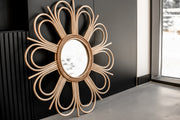 RATTAN MIRROR FLOWER - Monnarita - Handmade products