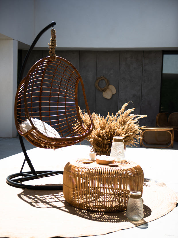 HANGING RATTAN EGG HUGO - Monnarita - Handmade products