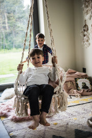 MACRAME HANGING CHAIR CHLOE - Monnarita - Handmade products