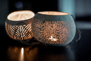 HANDMADE COCONUT SHELL CANDLE HOLDER