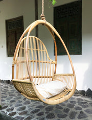 RATTAN HANGING CHAIR HENRY - Monnarita - Handmade products
