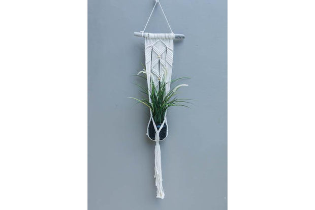 SINGLE MACRAME WALL FLOWERER BED - Monnarita - Handmade products