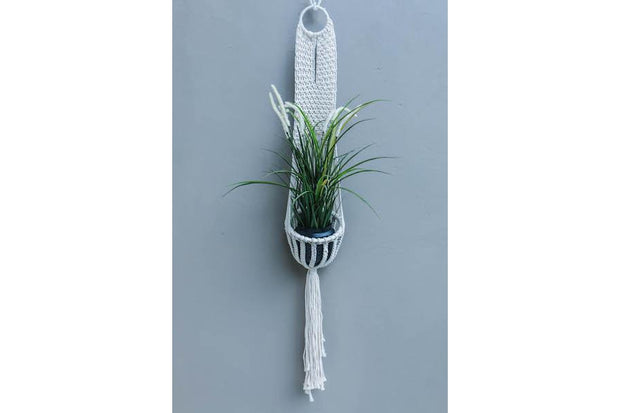SINGLE MACRAME WALL FLOWERER BOHO STYLE - Monnarita - Handmade products