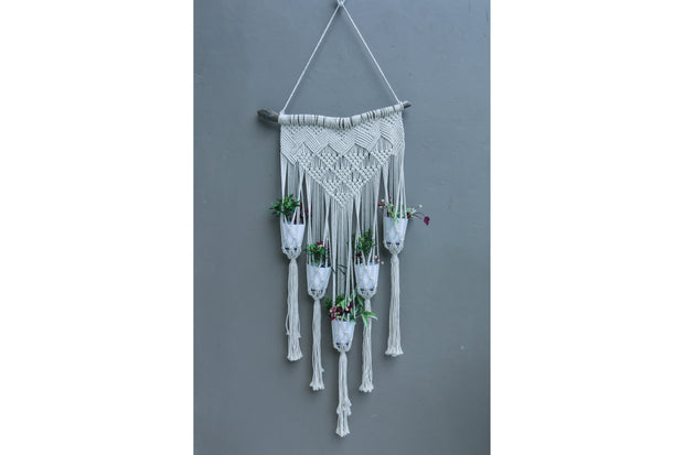 MACRAME WALL FLOWERER BED 5 - Monnarita - Handmade products