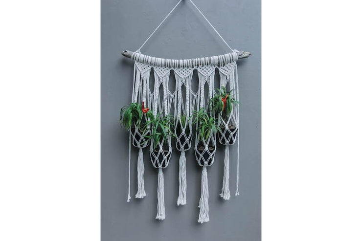 MACRAME FLOWERER HOLDER 5 PLANTS - Monnarita - Handmade products