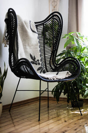 RATTAN CHAIR ISLA BLACK - Monnarita - Handmade products