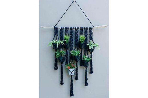 MAKRAMA FLOWERER BED FOR 8 PLANTS - Monnarita - Handmade products