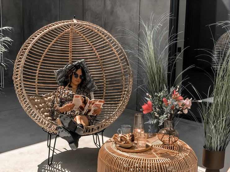 HANGING AND STANDING RATTAN BALL CHAIR - Monnarita - Handmade products
