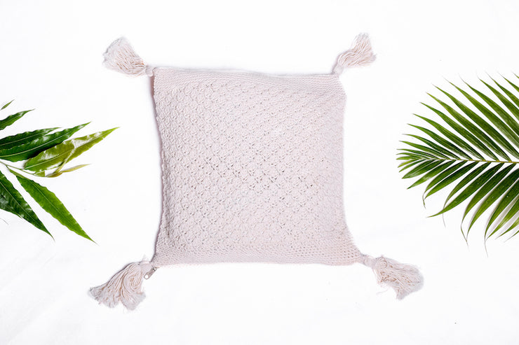 Macrame double side pillow - Monnarita - Handmade products