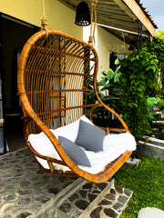 DOUBLE HANGING RATTAN CHAIR LEON - Monnarita - Handmade products