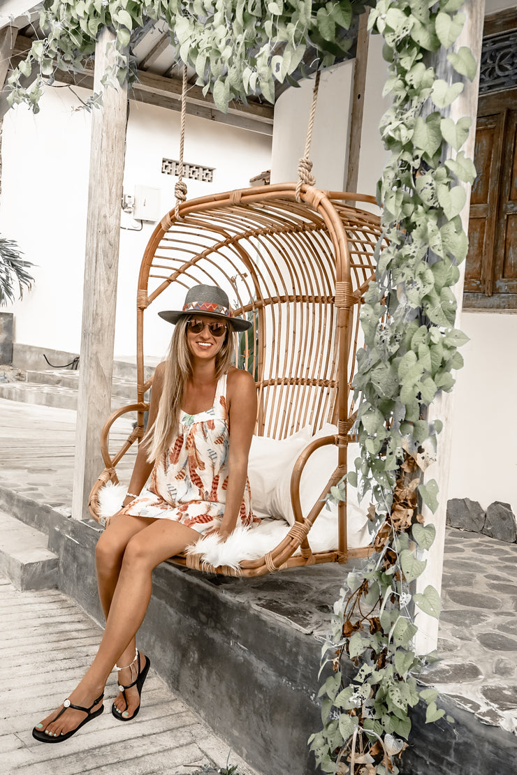 HANGING RATTAN CHAIR POLLY - Monnarita - Handmade products
