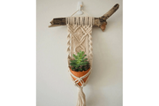SINGLE MACRAME FLOWERER BED WITH WOOD - Monnarita - Handmade products