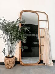 LARGE RATTAN MIRROR ROJA - Monnarita - Handmade products