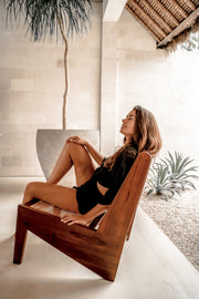 ELISHA TEAK-WOOD CHAIR - Monnarita - Handmade products