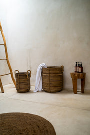 RATTAN BASKETS AZURE - Monnarita - Handmade products