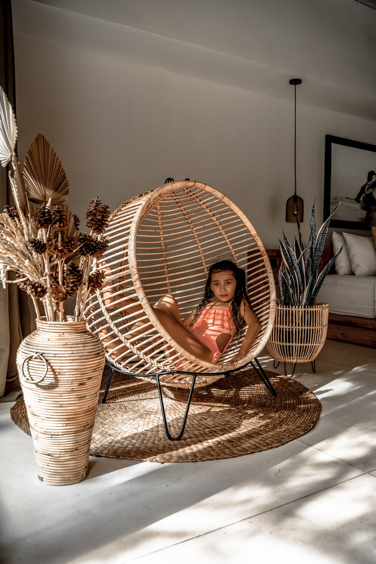 KIDS RATTAN BALL CHAIR - Monnarita - Handmade products