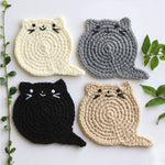 Fat Cat Handmade Crochet Coasters Set