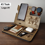 Personalized Wooden Docking Station Gift for Men