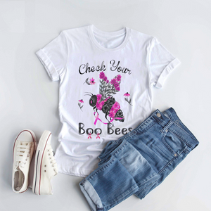Check Your Boo Bee Breast Cancer Awareness - T Shirt