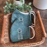 [CLEARANCE SALE] Puppy Hand Embroidery Linen FaceMask