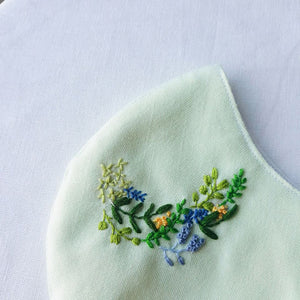 Autumn Hand Embroidery Linen Face Mask