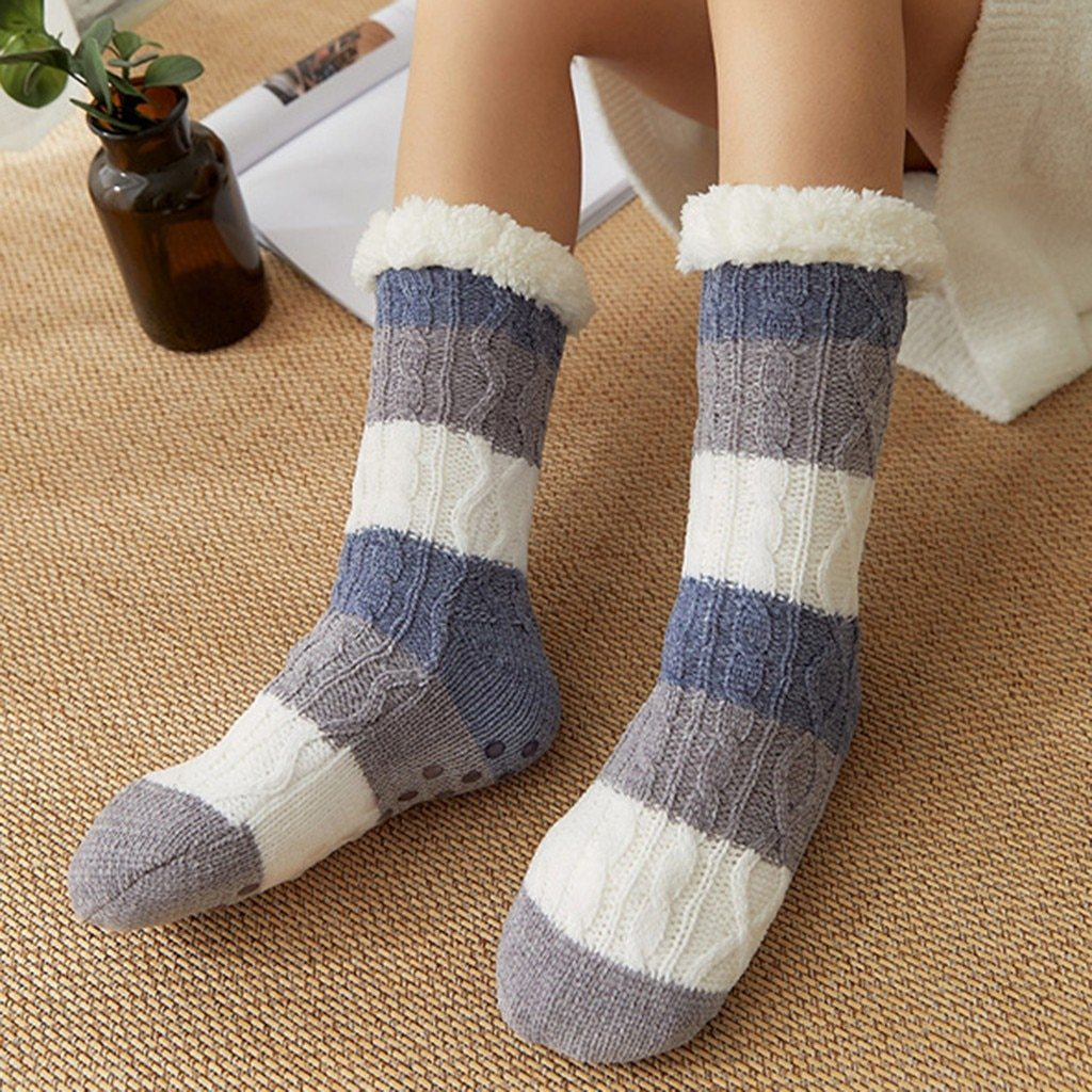 Fleece Thick Warm Non Slip Cute Socks