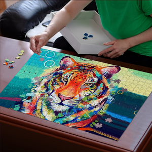 PREMIUM WOODEN PUZZLE - Colorful Lion