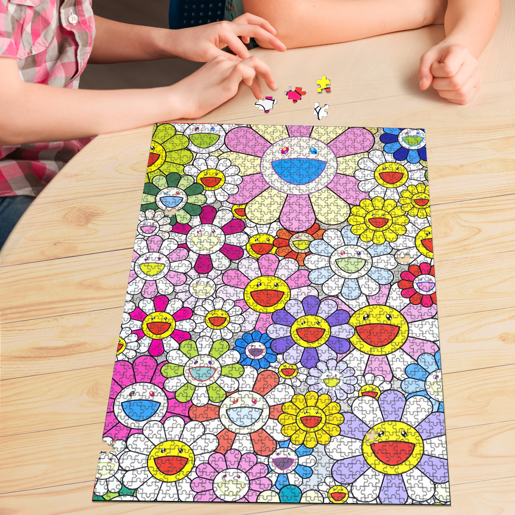PREMIUM WOODEN PUZZLE - Happiness Flower face