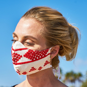 [BIG SALE] Bohemian Hand-Embroidered Linen Fabric Mask