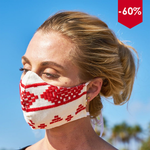 [BLACK FRIDAY - CYBER MONDAY] Bohemian Hand-Embroidered Linen Fabric Mask