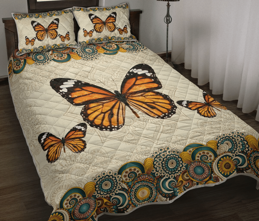 BUTTERFLY ABSTRACT FLORAL - Bedding Set