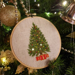Christmas Tree Hand Embroidery Ornament