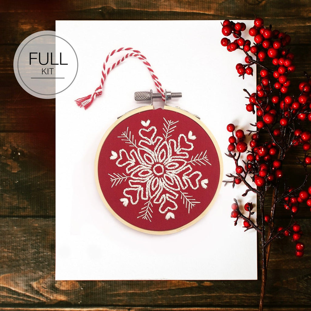 Snowflake Christmas Decoration - Full Embroidery Kit