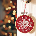 Hand Embroidery Snowflake Christmas Ornament