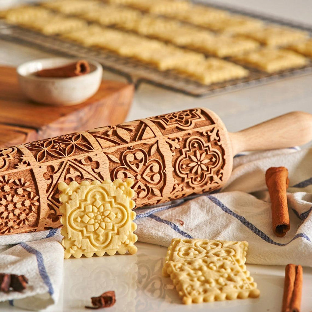 Vintage Embossing Rolling Pin
