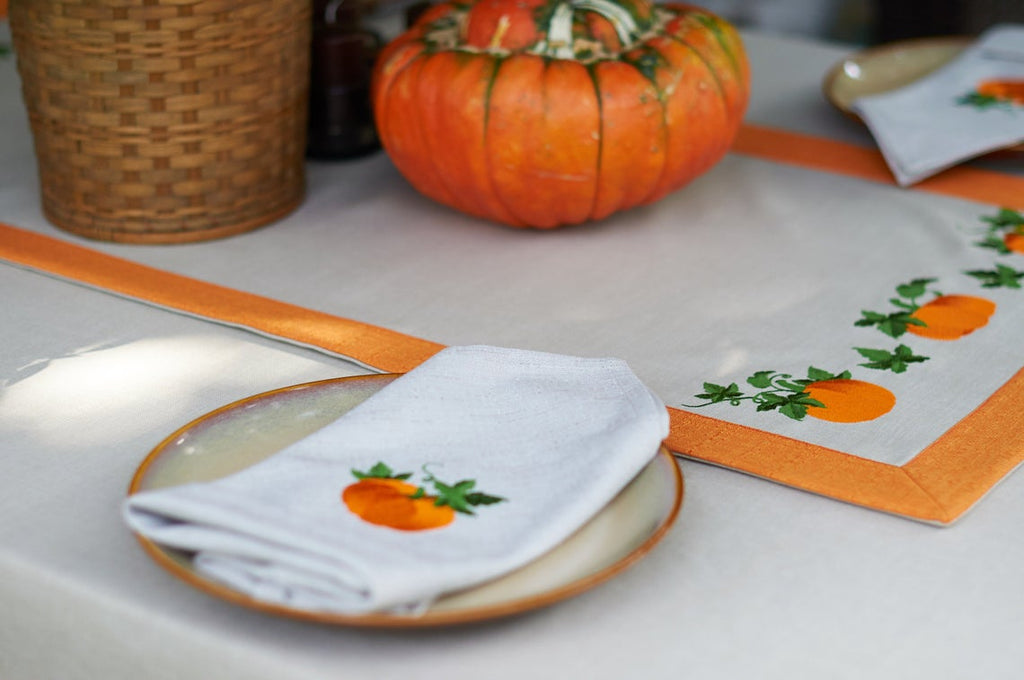 Thanksgiving Hand Embroidery Napkins