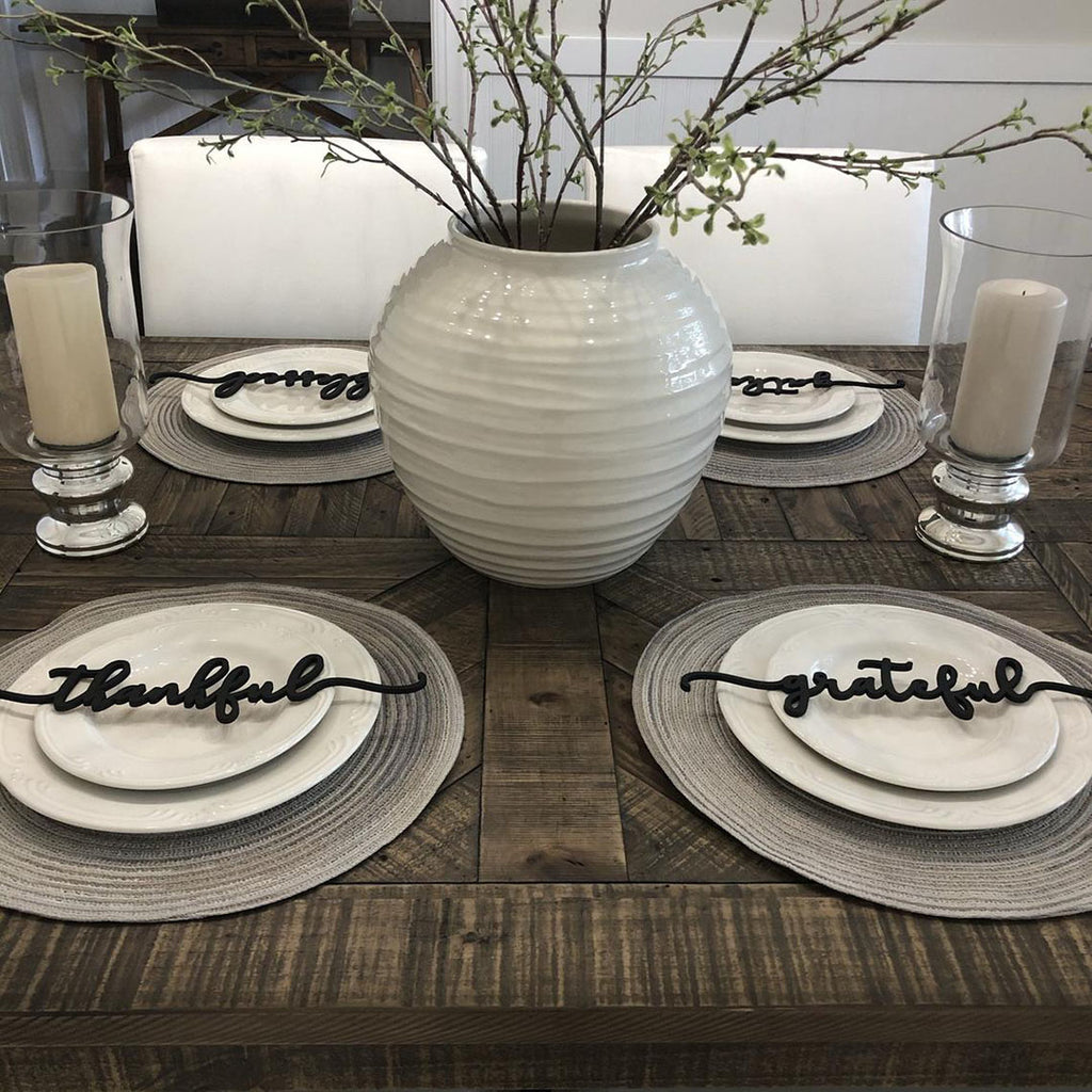 Thanksgiving Table Decor - Thankful, Grateful & Blessed