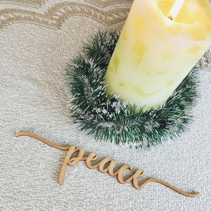Christmas Table Decor New Collection - Merry, Christmas, Peace