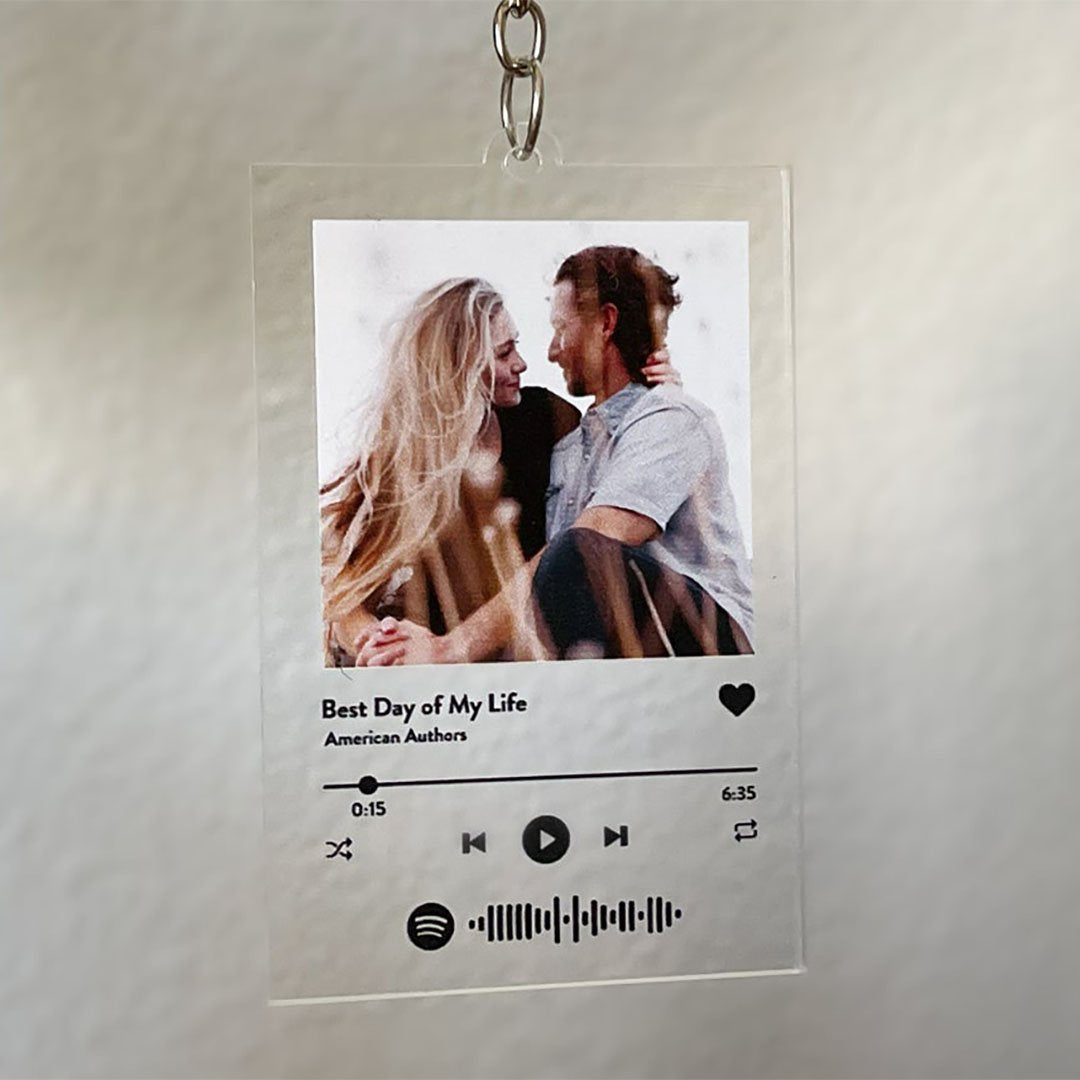 Custom Spotify Song Keychain - Birthday Gift - Anniversary Gift - Gift For BF - Gift For Her