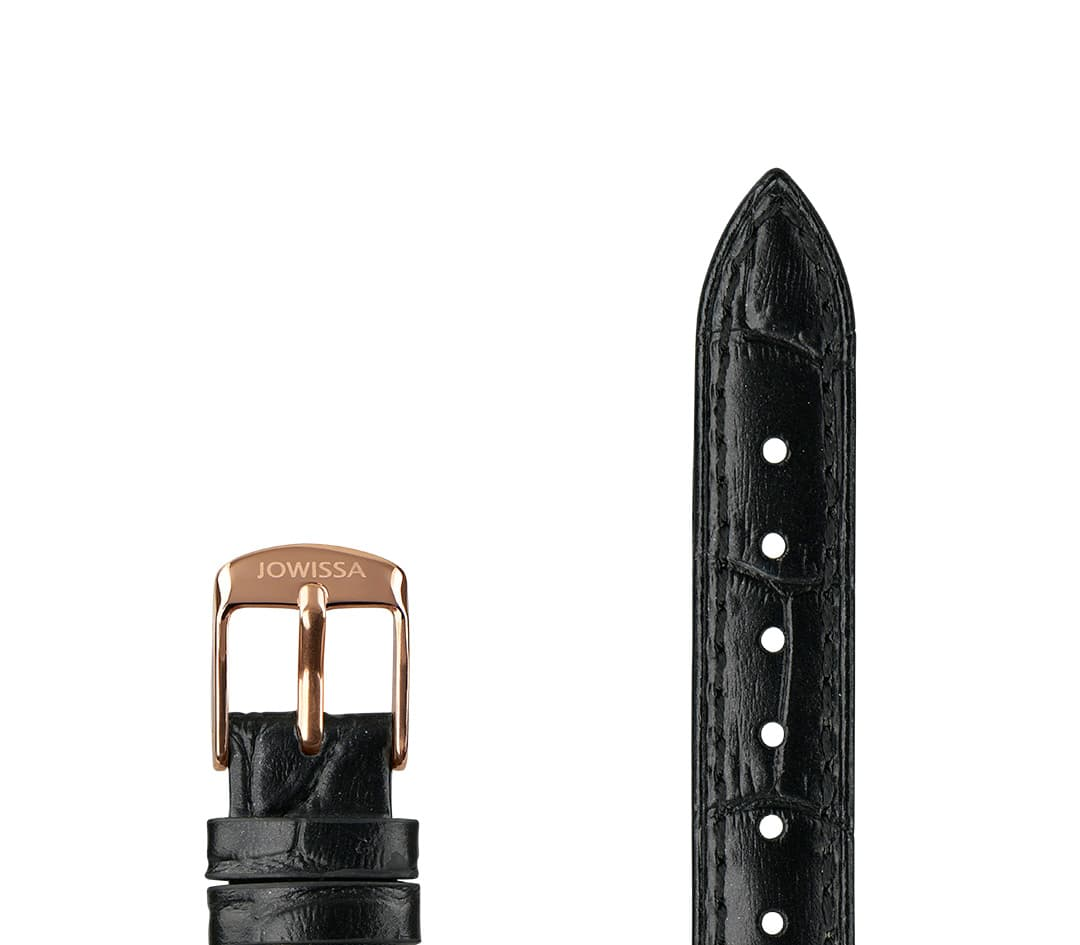 Pearl Croco Leather Watch Strap E3.1441.M