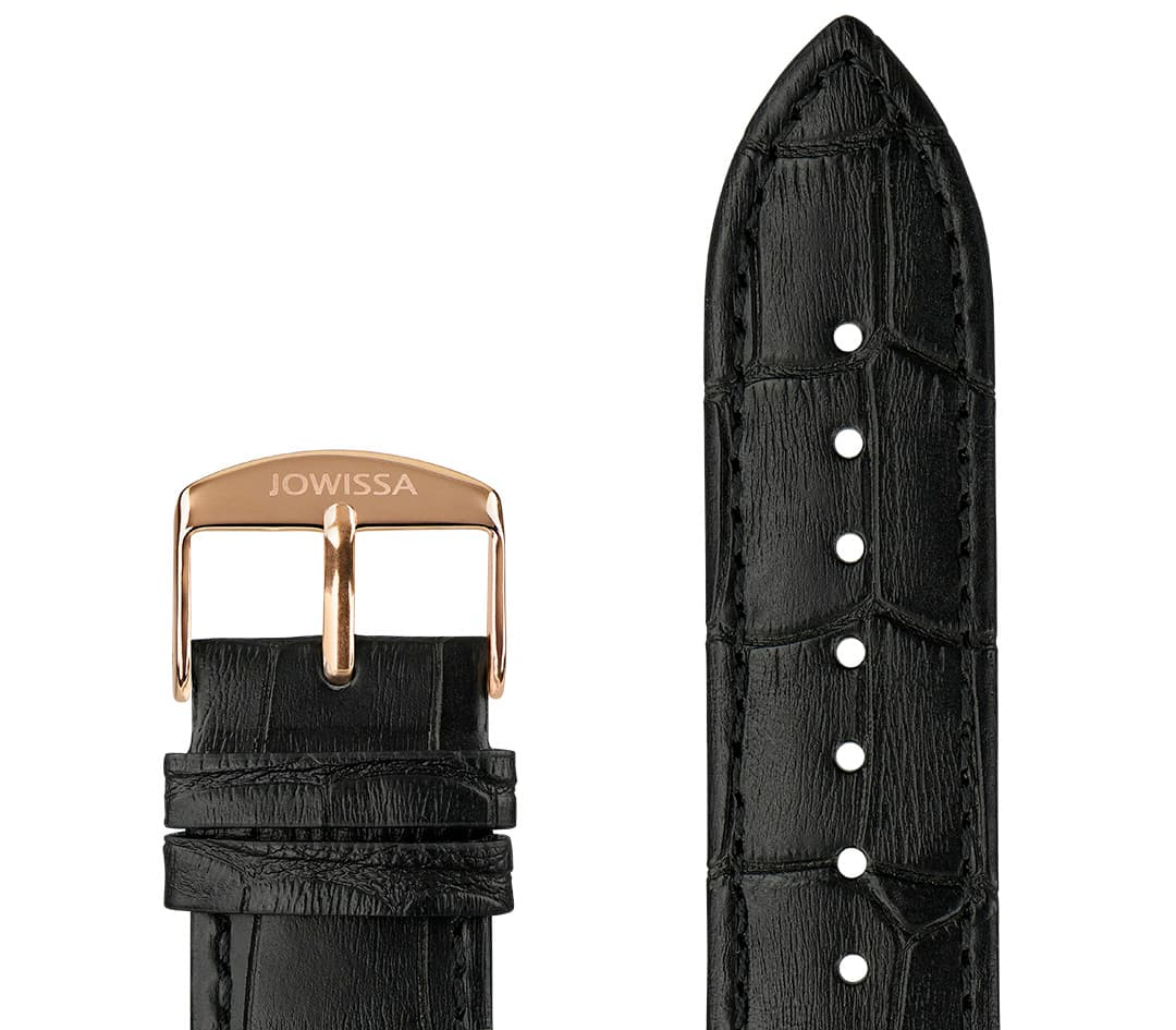 Mat Alligator Leather Watch Strap E3.1443.XL