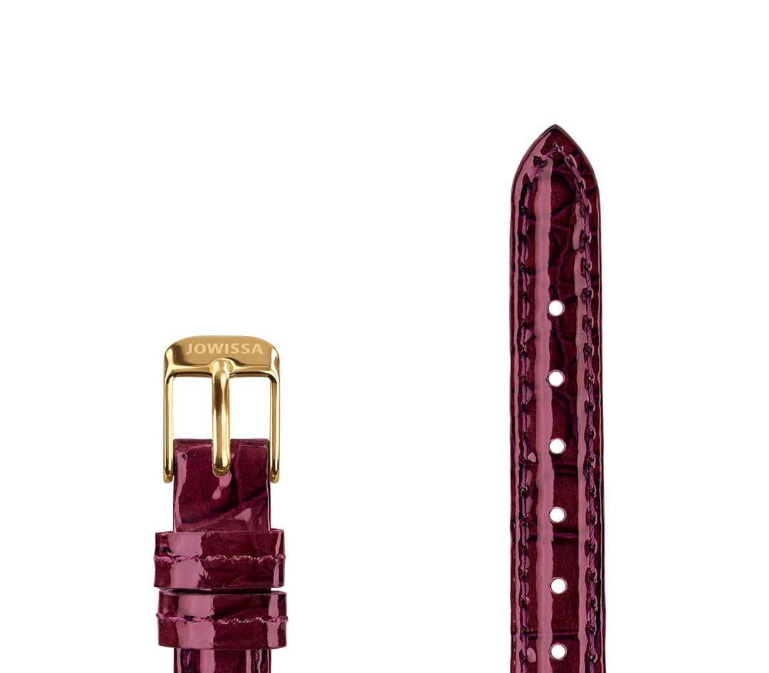 Leather Watch Strap Glossy Croco E3.1457.S