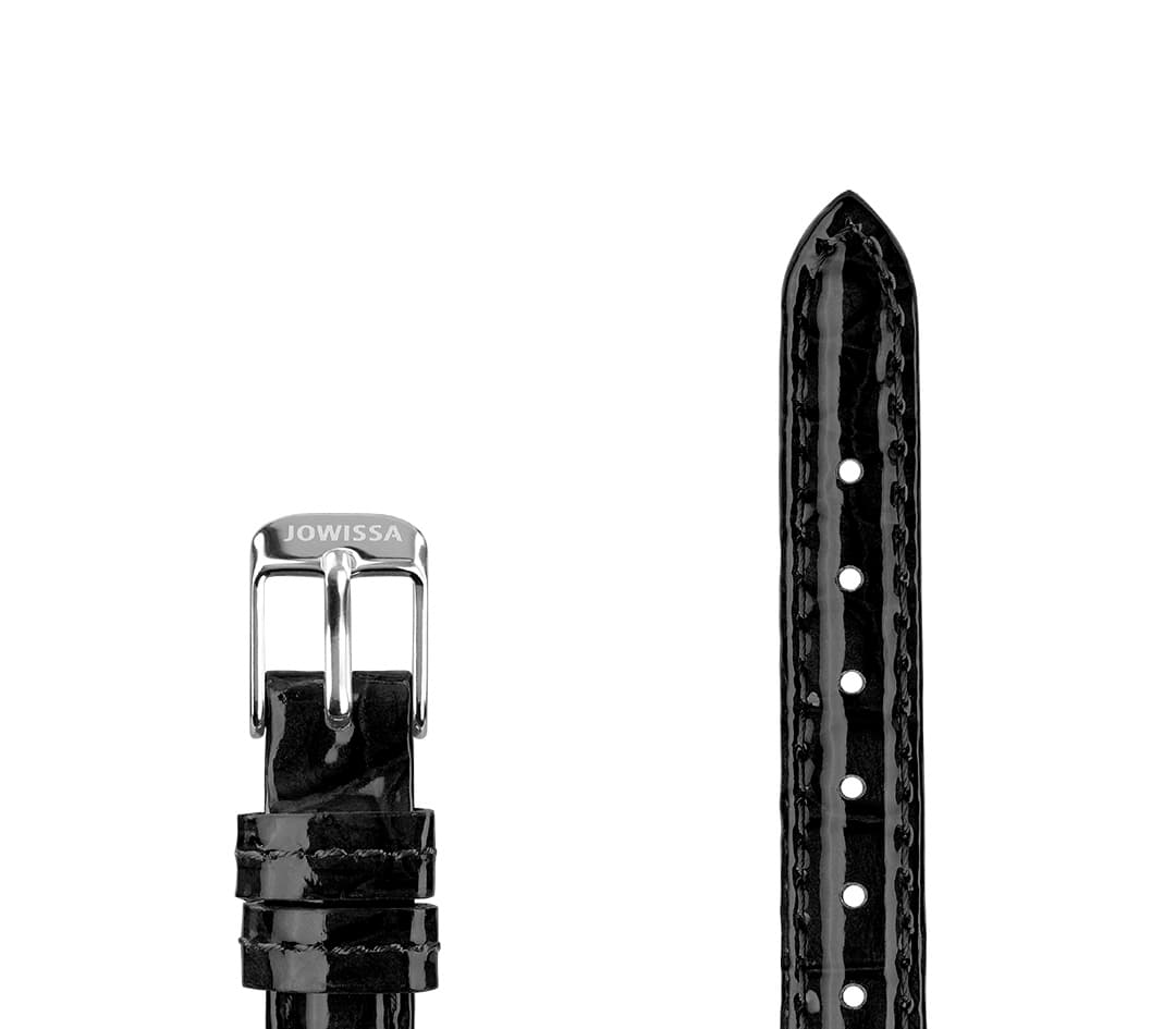 Leather Watch Strap Glossy Croco E3.1445.S