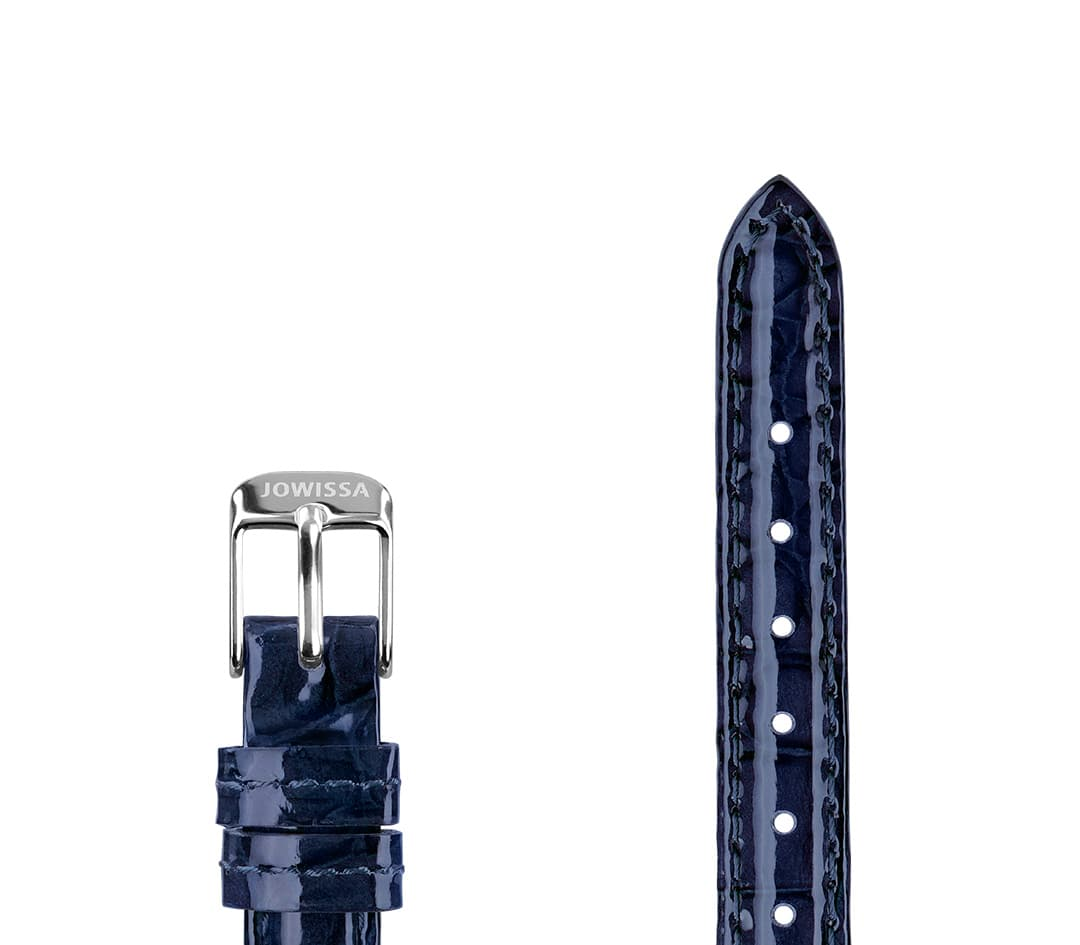 Leather Watch Strap Glossy Croco E3.1453.S