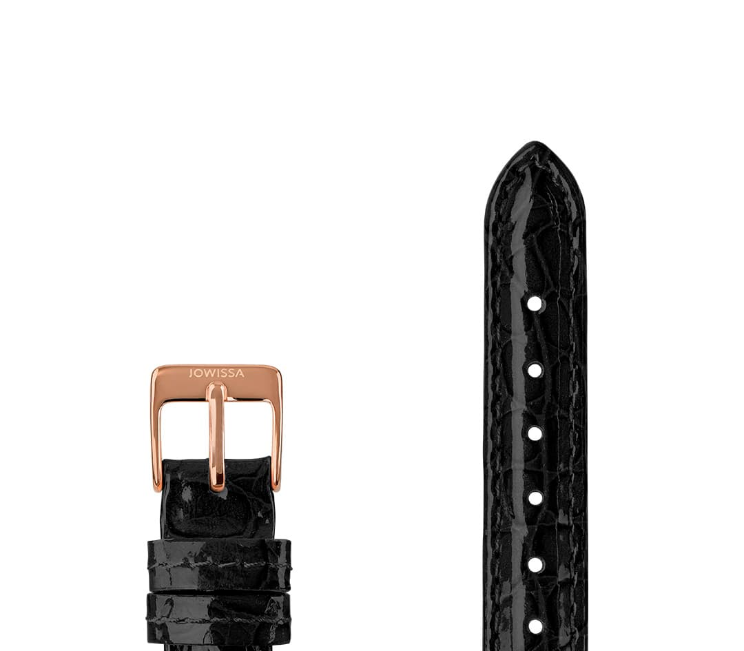 Leather Watch Strap Glossy Croco E3.1440.S