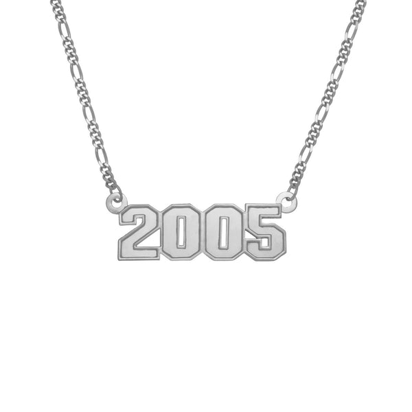 Kids 3-D Year Necklace