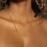 The Golden Double Plated Cross Name Necklace